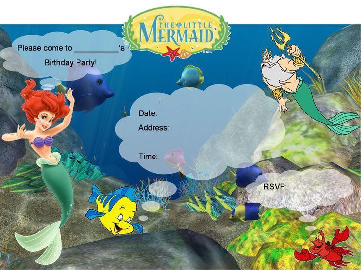 8 best invites images on Pinterest | Little mermaid invitations ...
