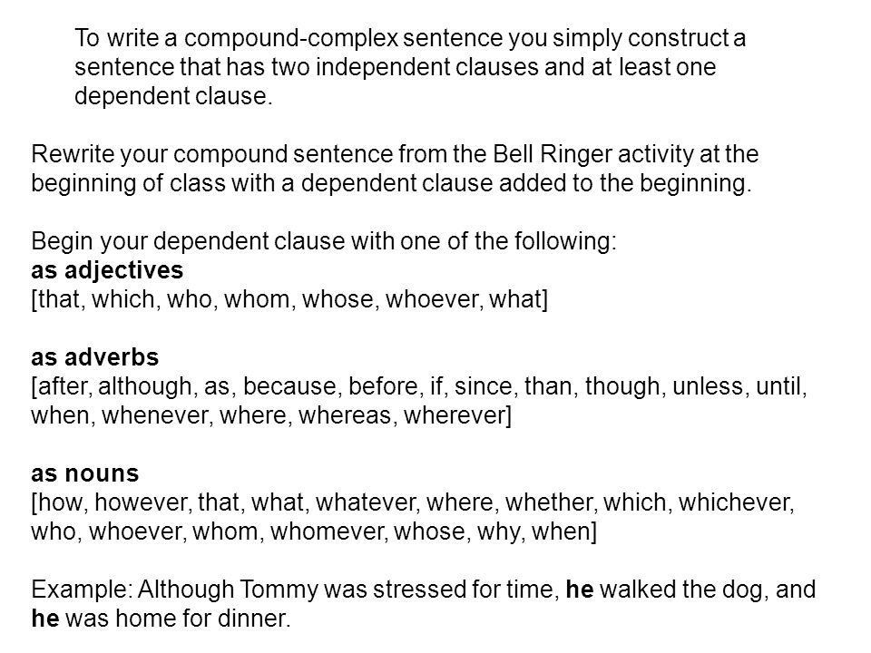 How do I identify compound-complex sentences? What is a complex ...