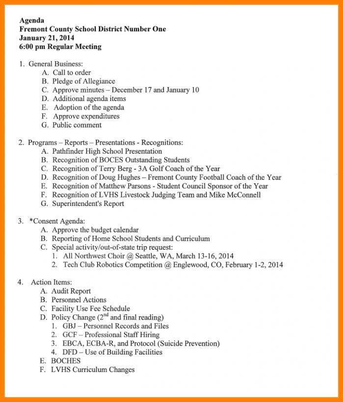 how to make an agenda - thebridgesummit.co