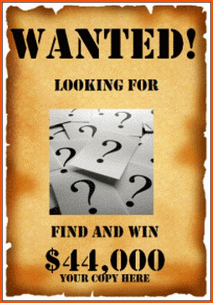 8+ wanted poster template microsoft word | Survey Template Words