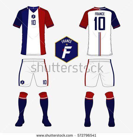 Set Soccer Jersey Football Kit Template Stock Vector 573760858 ...