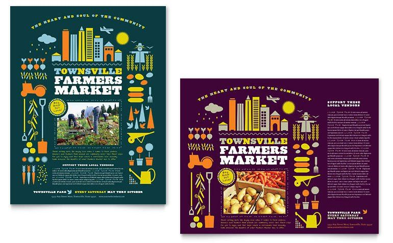 Farmers Market Poster Template - Word & Publisher
