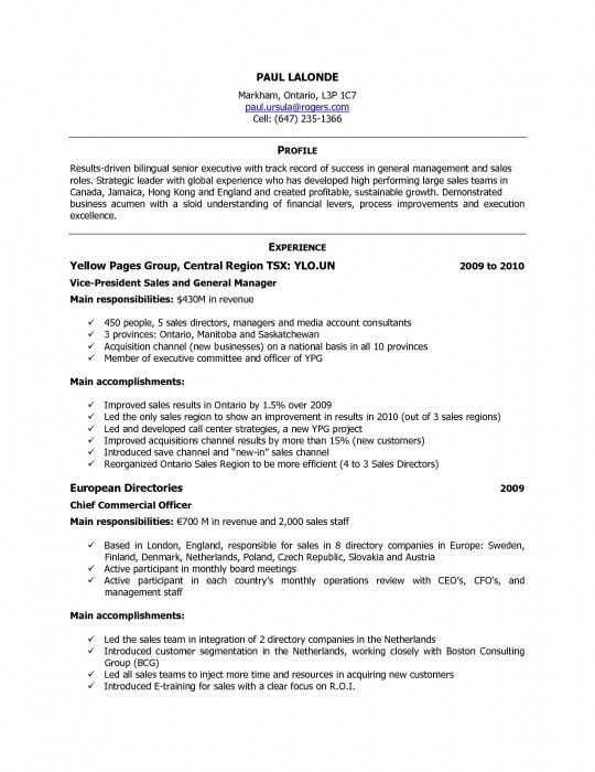 The Stylish Sample Resume In Canada | Resume Format Web