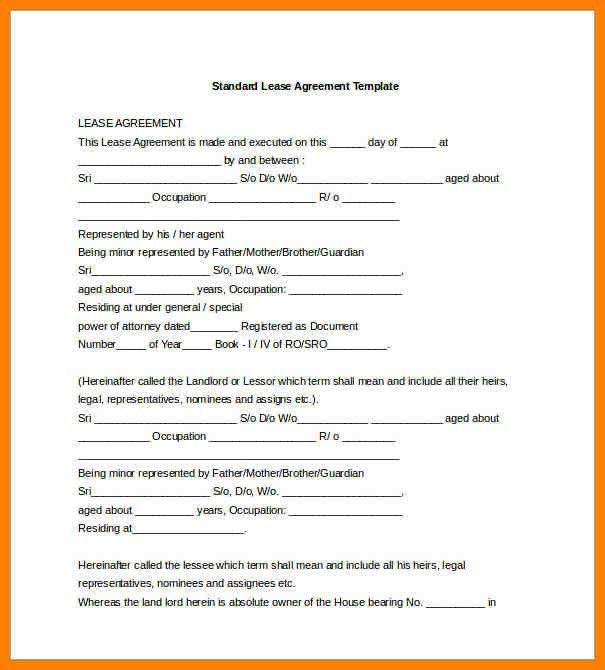 5+ free lease agreement template word | artist resumes