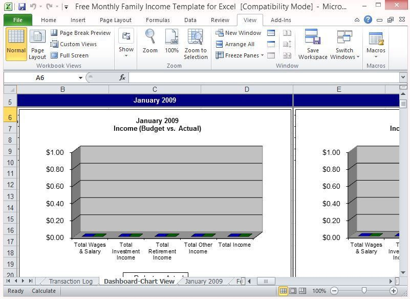 Free Monthly Family Income Template For Excel