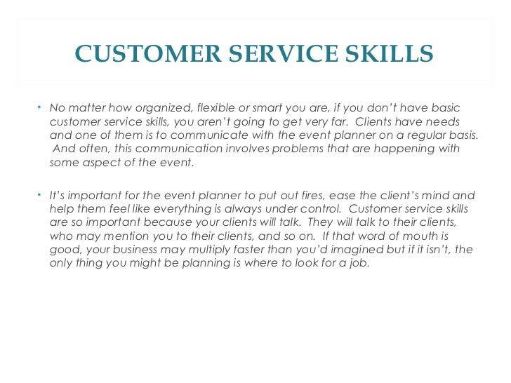 good customer service skills - Template