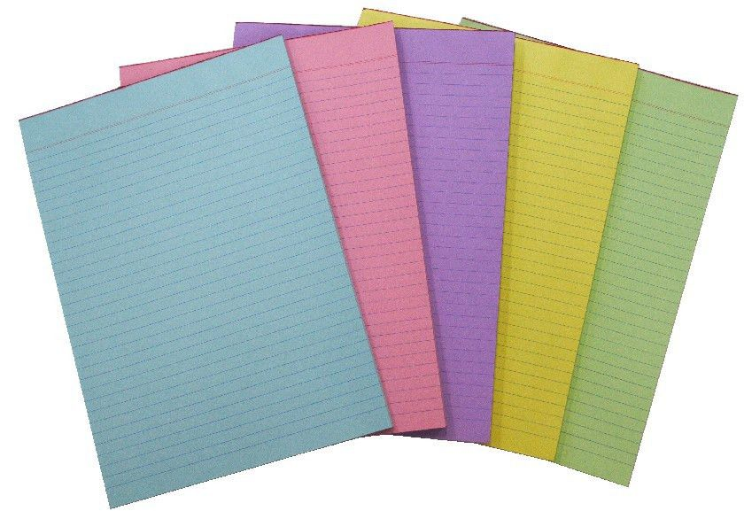 A4 Colored Sheets one side ruled (Pack of 20) [SB02201922] - Rs42 ...