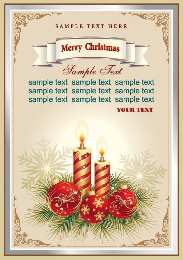 Beautiful christmas cards vector Free Vector / 4Vector