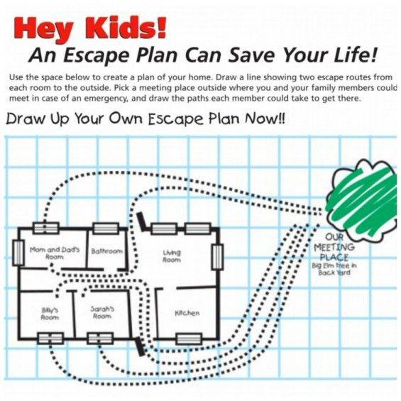Fire safety escape plan home - House design plans