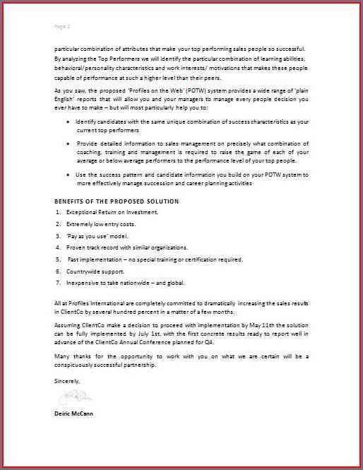 HOW TO WRITE A BUSINESS PROPOSAL LETTER SAMPLE ...