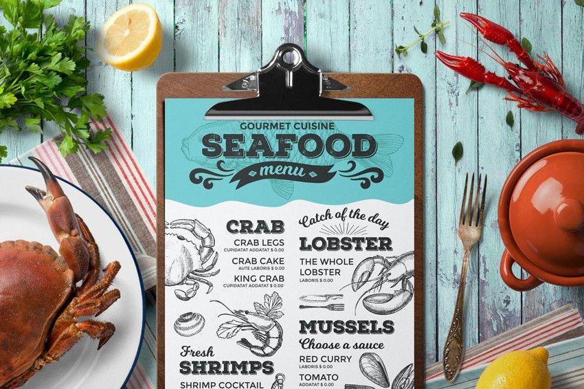 29 Delicious Menu Templates for Restaurants & Cafes