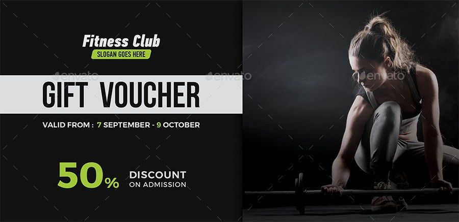Fitness Gift Voucher by themedevisers | GraphicRiver