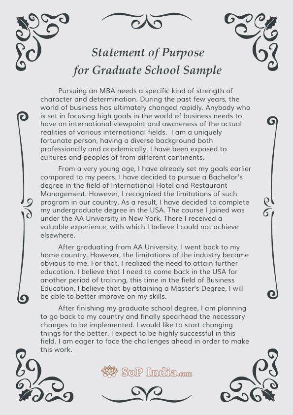 Sample Statement of Purpose | SoP India