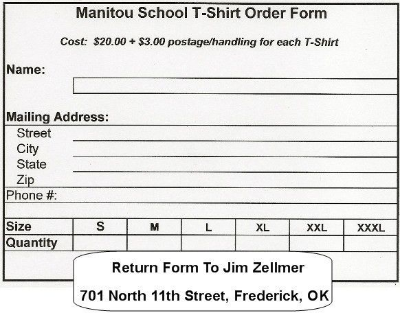 Printable T Shirt Order Form Template {PDF, Word, Excel} | Online ...