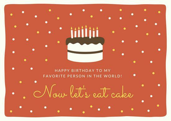 Birthday Cake Card - Templates by Canva