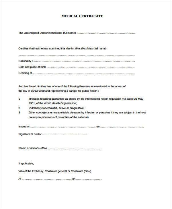 28+ Medical Certificate Templates in PDF | Free & Premium Templates