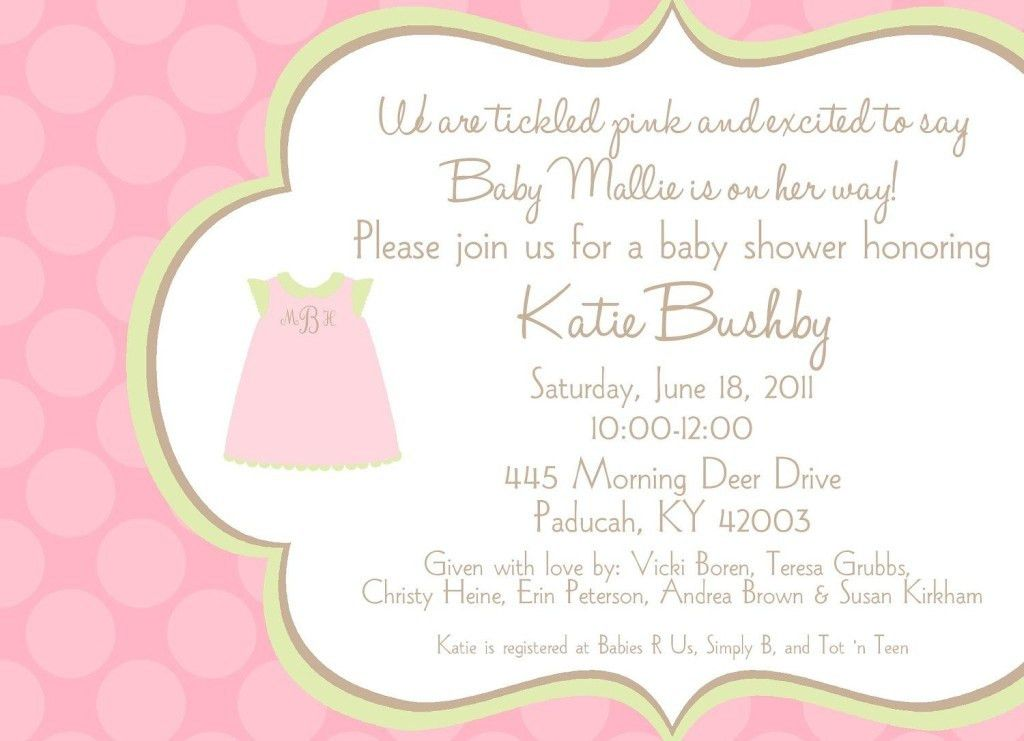 Baby Shower Invitation Ideas For Wording Baby Shower Invitation ...