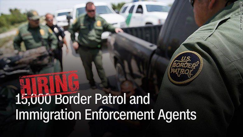 Trump's tall order: Hiring 15,000 ICE and border patrol agents ...