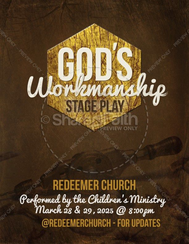 God's Workmanship Religious Flyer Template | Flyer Templates