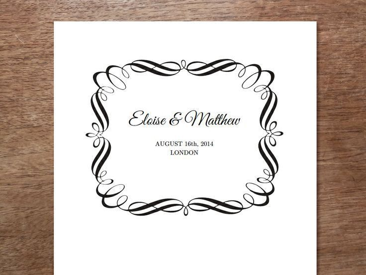 Best 25+ Printable wedding programs ideas on Pinterest | Wedding ...
