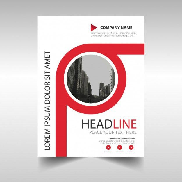 Red annual report book cover template Vector | Free Download
