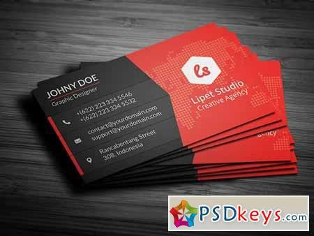 Rise Modern Business Card Template 159080 » Free Download ...