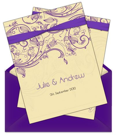 Letter Style Email Wedding Invitation - Design Style 3