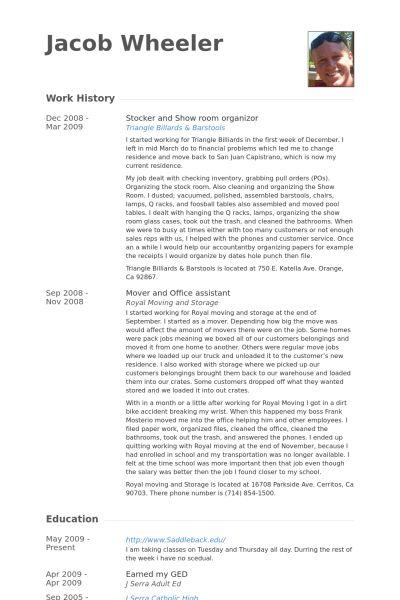 Download Stocker Resume | haadyaooverbayresort.com