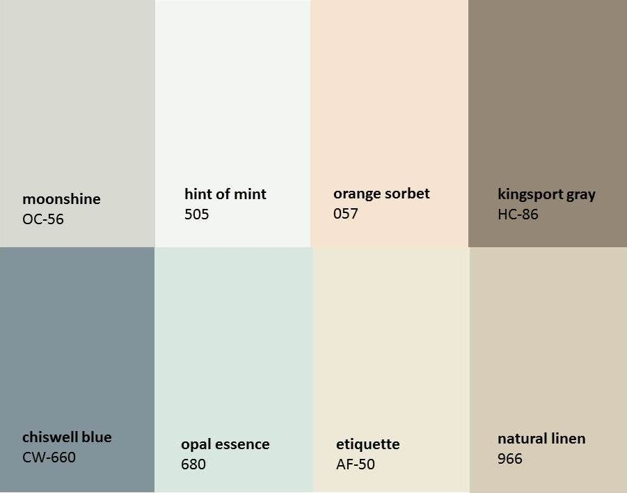 "Benjamin Moore ""Revere Pewter"" for your entryway and"