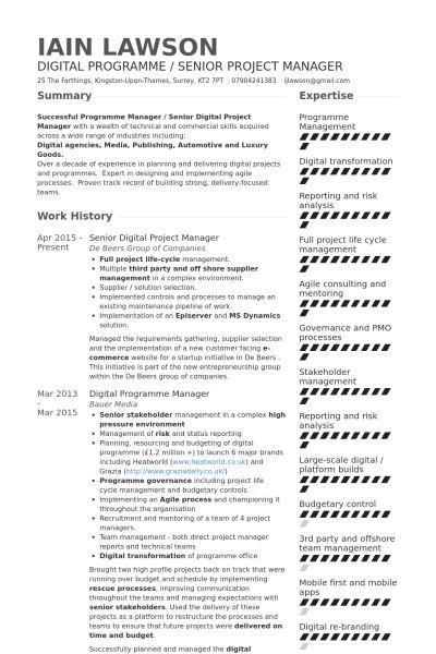 Digital Project Manager Resume samples - VisualCV resume samples ...