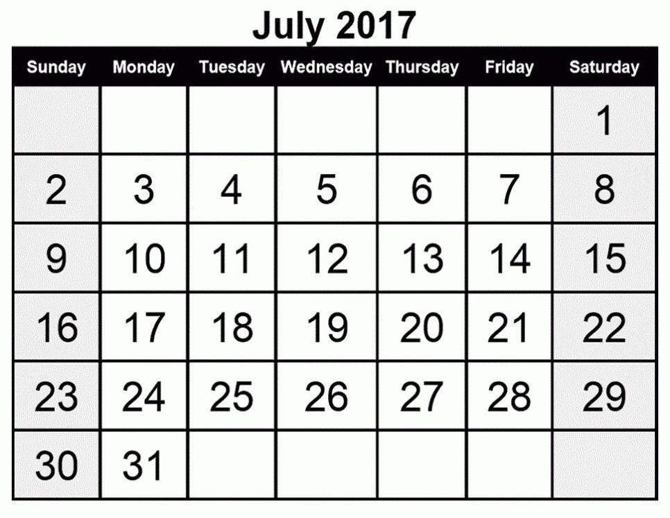 2017 July Calendar Microsoft Word Archives - CALENDAR PRINTABLE ...