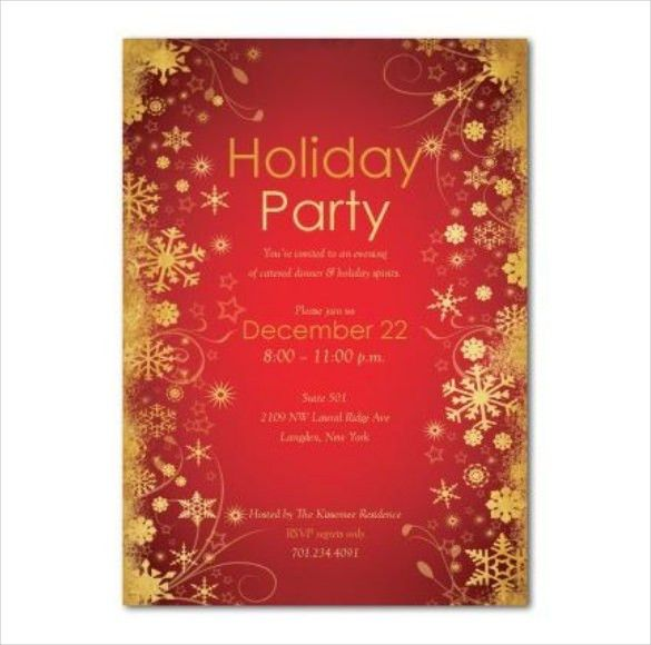 Holiday Invitation Template – 17+ PSD, Vector EPS, AI, PDF Format ...