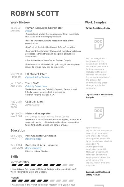 Human Resources Coordinator Resume samples - VisualCV resume ...