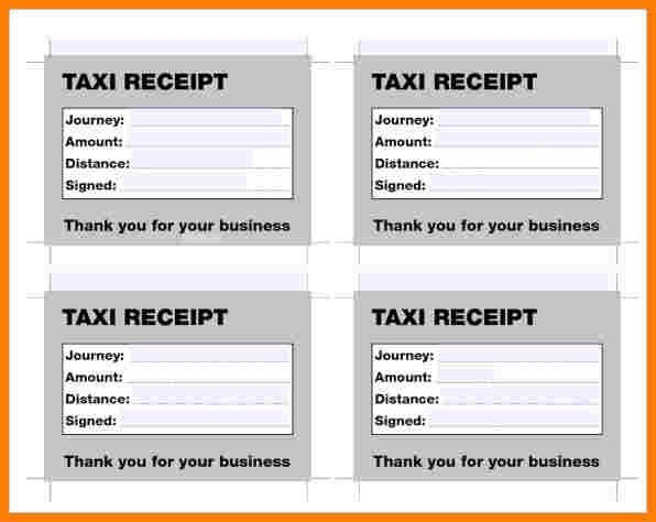 6+ taxi receipt pdf | cna resumed