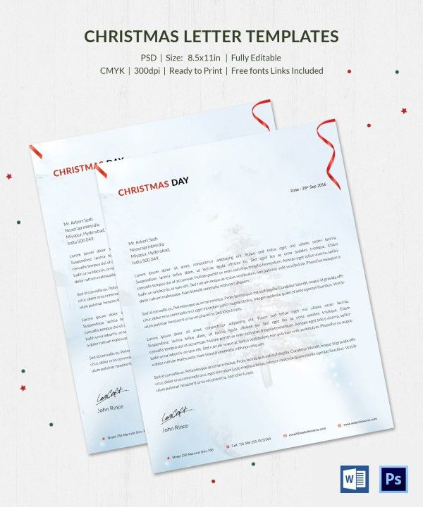10+ Christmas Letterheads - Word, PSD Format Download | Free ...