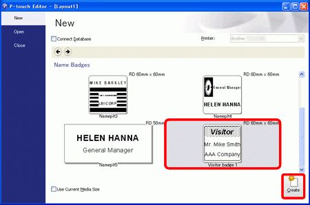 How do I create a Name Badge Label using a template? (P-touch ...