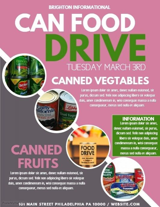 28+ Can Food Drive Flyer Template | Canned Food Drive Flyer ...