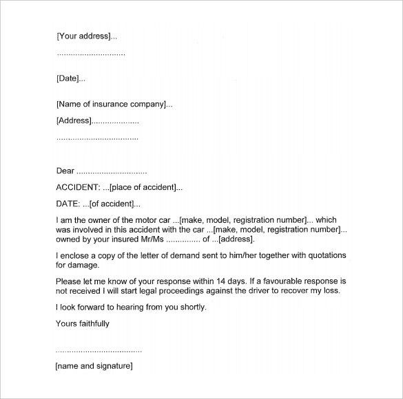 Demand Letter Example. Letter Breaking A Lease 45 Eviction Notice ...