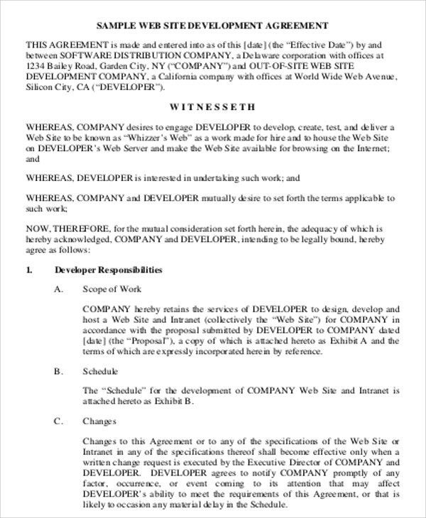 Software Development Agreement. Software License Agreement: Page 1 ...