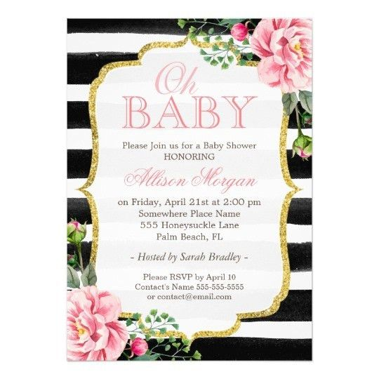 Attractive Black And White Invitation Cards 24 For Your First ...