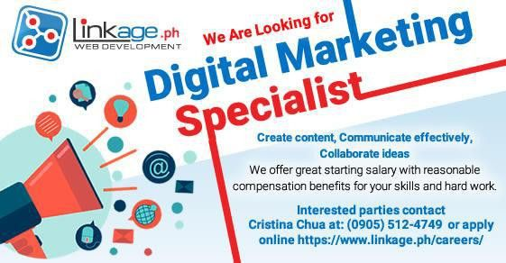 NOW HIRING Digital Marketing Specialist, Baguio