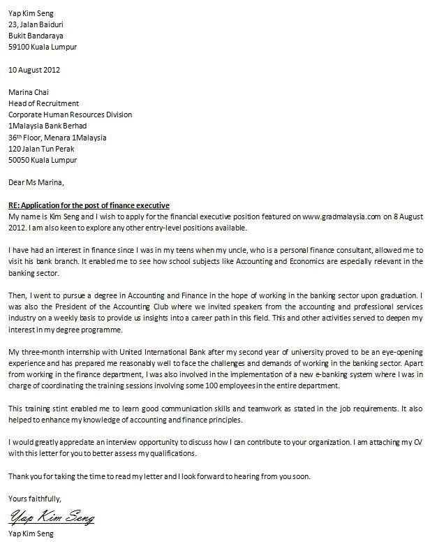 Job Posting Cover Letter | Sample Resumes