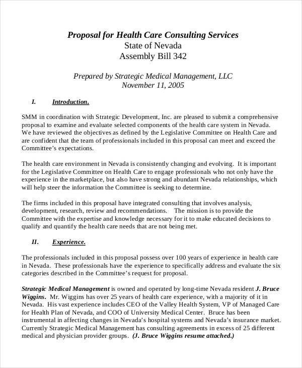 Medical Business Proposal Templates - 4+ Free Word, PDF Format ...