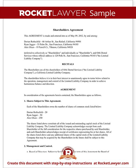 Investors Agreement - Investor Contract Agreement (Form With Sample)