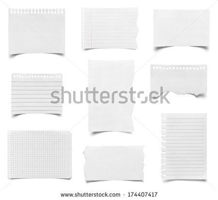 Collection White Ripped Pieces Paper On Stock Photo 64615288 ...