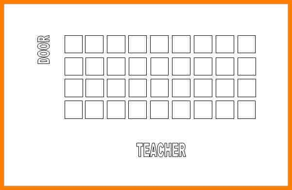 Seating Chart Template Classroom.Free Editable Classroom Seating ...