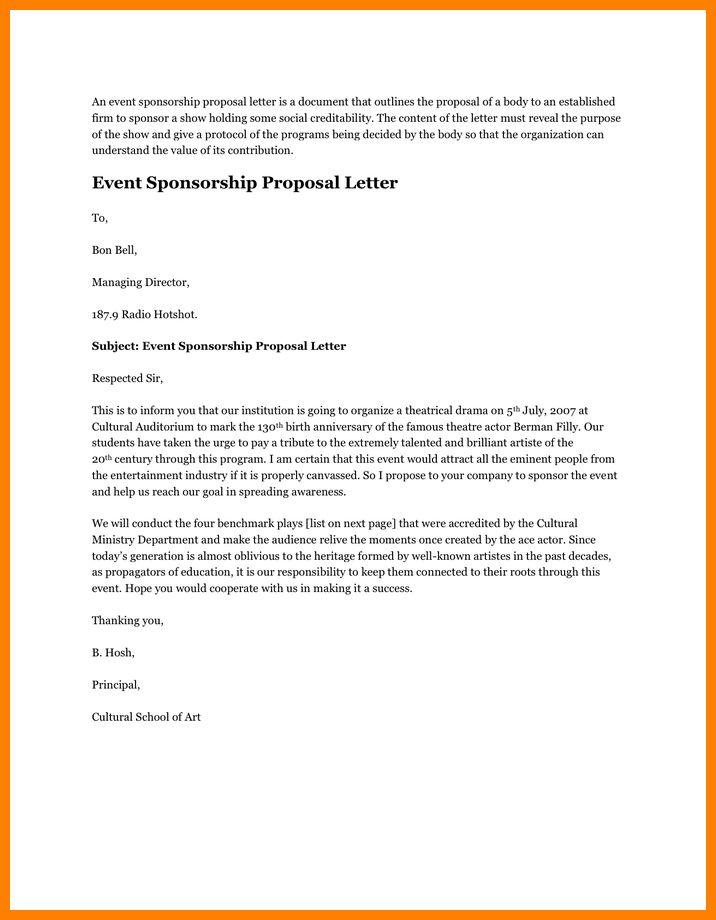 5+ proposal letter sample for event | buyer resume