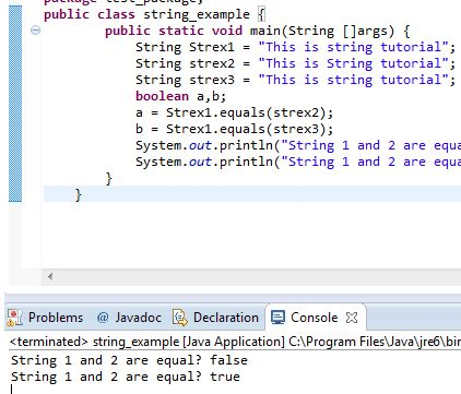 2 Demos of Java compareTo and equals for String Comparision ...