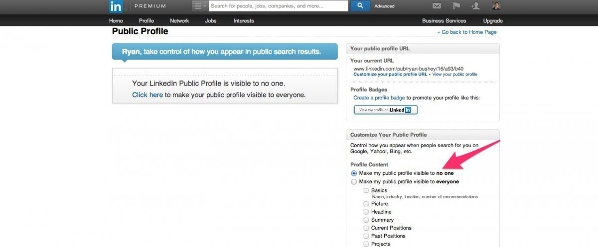 Hide Your LinkedIn Profile From Google - Business Insider