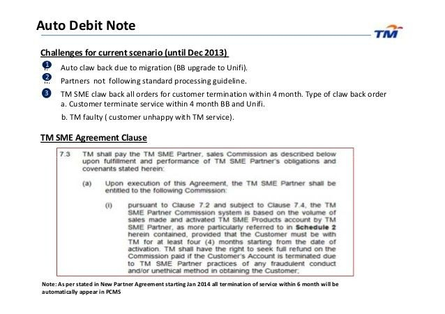 Sme partner update (march) auto debit note & documentation guideline